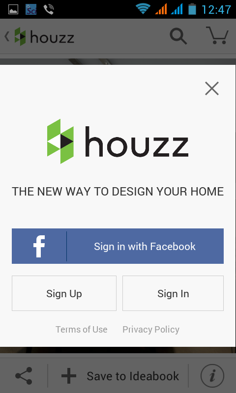 Houzz-SignIn