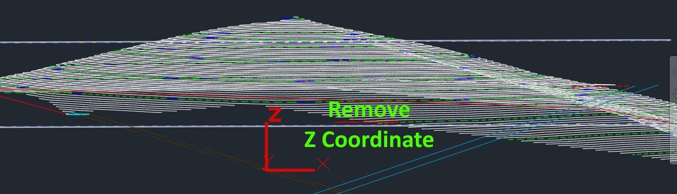 از بین بردن Z در فایلهای اتوکد